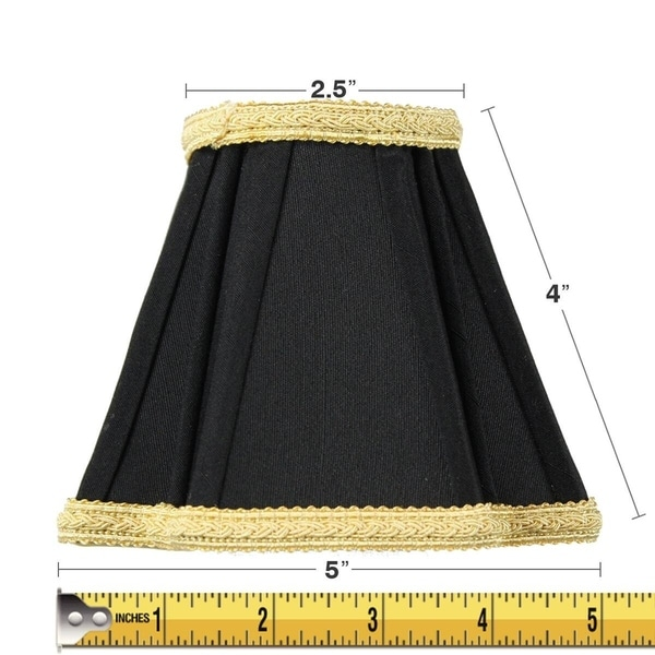 2x5x5 Black with Gold Liner Chandelier Clip-On Lampshade