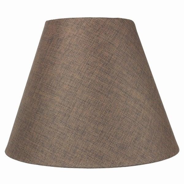 7x14x11 Hard Back Empire Lamp Shade - Chocolate Burlap