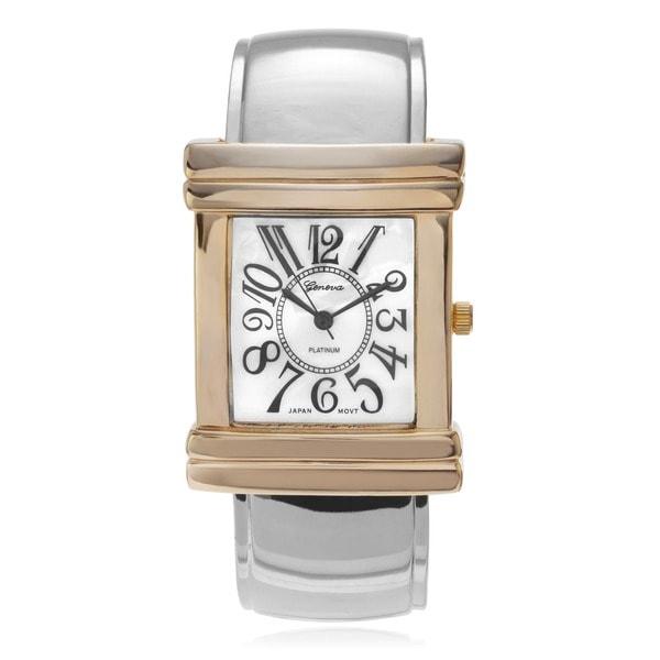 Geneva Platinum Women's Large Number Dial Watch