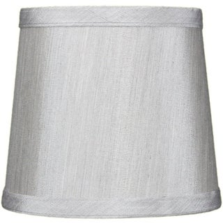 5x6x5 Grey Drum Chandelier Clip-On Lampshade
