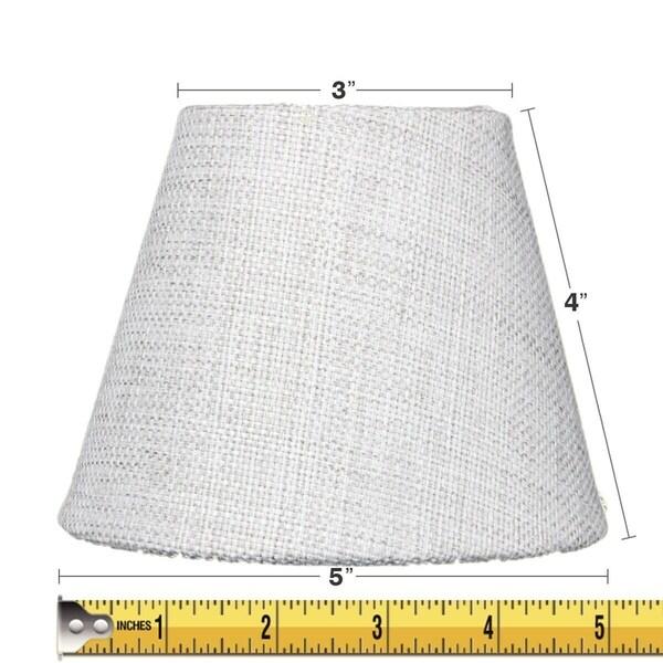 3x5x4 Khaki Burlap Clip-on Candelabra Lampshade