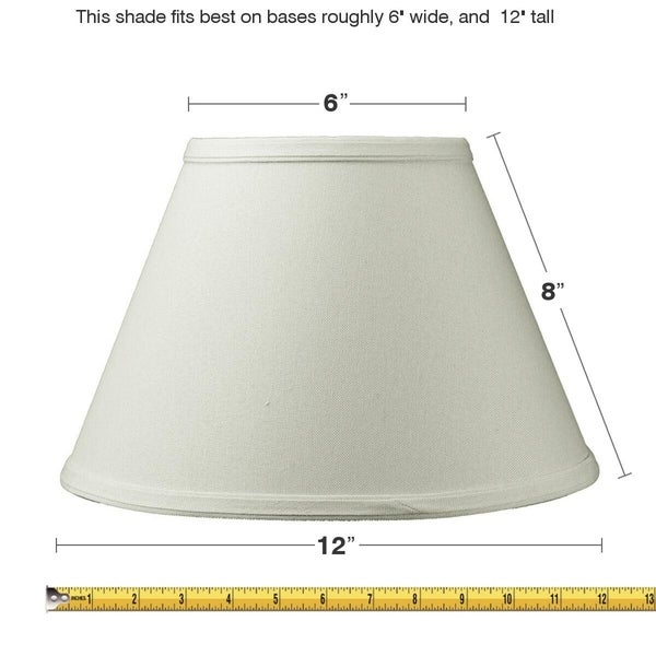 6x12x8 Threaded UNO Downbridge Lampshade Light Oatmeal