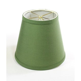 5x8x7 Empire Linen Edison Clip On Lamp Shade Kale Green
