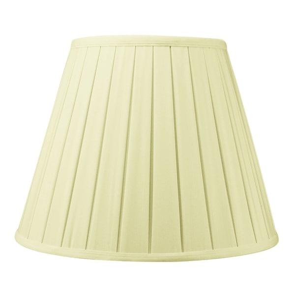 8x14x11 Eggshell Empire BoxPleat Lamp Shade
