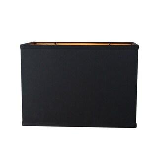 Rectangular Drum Lampshade (16x10) (16x10) x 11 Black Fabric