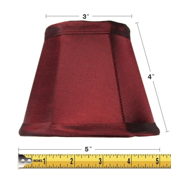 3x5x4 Chandelier Stretch Chameleon Burgundy Clip-On Lampshade