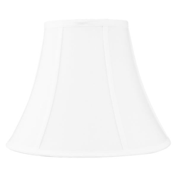 7x14x11 White Bell Shantung Lampshade