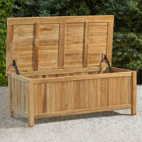 Kikori Teak 48-inch Outdoor Storage Box by Havenside Home