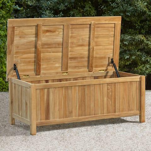 """Cambridge Casual Sherwood Teak Storage Box - 48"""" Size Variant"""
