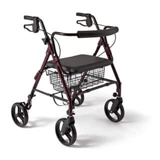 Medline Extra-wide Bariatric Heavy-duty 400 lb. Weight Capacity Rollator Walker|https://ak1.ostkcdn.com/images/products/1848205/P10182076.jpg?impolicy=medium