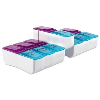 MEDca Weekly Pill Organizer with Day and Night Transparent and Detachable Compartments