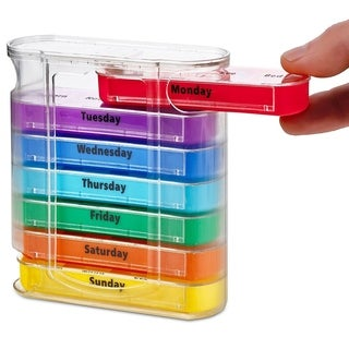 MEDca Weekly Pill Organizer Dispenser with Stackable AM/PM Compartments