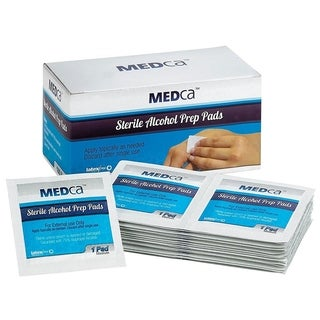 MEDca Alcohol Medium Prep Pads Sterile 2-Ply (Pack of 100)