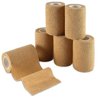 MEDca Self Adherent Cohesive Wrap Bandages 6 Rolls Skin Color