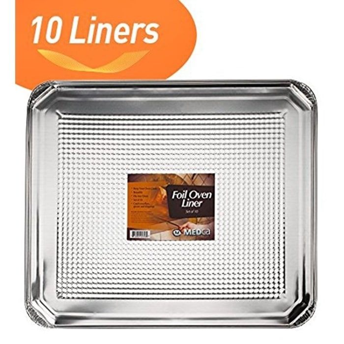 MEDca Foil Oven Liner 18.5 X 15.5 Inch Set of 10, White (...