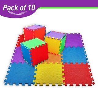 CREATIVE TIME Floor Mat 10-tile Multi-Color Exercise Mat