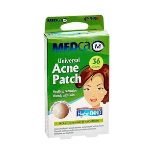 MEDca Universal Acne Pimple Patch Absorbing Cover Two Sizes Clear (Box of 36)