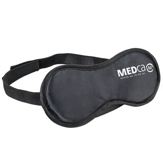 MEDca Eye Mask with Earplugs Soft and Light Black Adjustable Elastic Strap Men Women and Kids