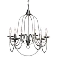 Y-Decor Blakely 6 light chandelier in Brushed Nickel Finish