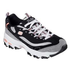 Women's Skechers D'Lites New Journey Sneaker Black/White/Grey