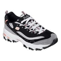 Women's Skechers D'Lites New Journey Sneaker Black/White/Grey