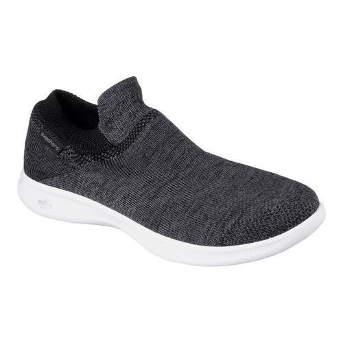 Women's Skechers GO STEP Lite Ultrasock Slip-On Shoe Black/White