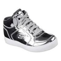 Children's Skechers S Lights Energy Lights Eliptic High Top Sneaker Silver