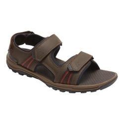 Men's Rockport Trail Technique 3 Strap Sandal Brown Leather