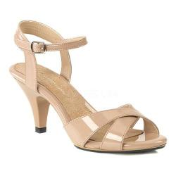 Women's Fabulicious Belle 315 Ankle-Strap Sandal Nude Patent/Nude