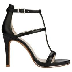 Women's Kenneth Cole New York Bertel T-Strap Sandal Black Leather
