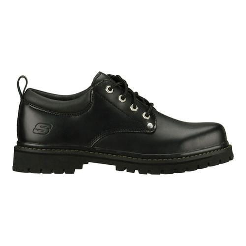 Men's Skechers Alley Cats Black Oily Leather (BOL) - Thumbnail 1