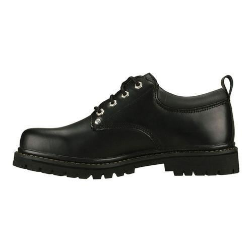 Men's Skechers Alley Cats Black Oily Leather (BOL) - Thumbnail 2