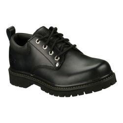 Men's Skechers Alley Cats Black Oily Leather (BOL)