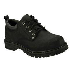 Men's Skechers Alley Cats Black Scuff Resistant Leather (BKS)
