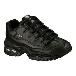 Women's Skechers Sport Energy Black/Silver Leather