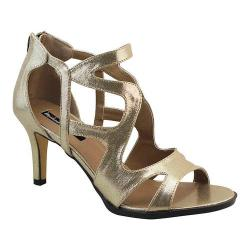 Women's Michael Antonio Fixy Strappy Sandal Gold Metallic
