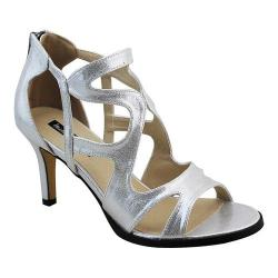 Women's Michael Antonio Fixy Strappy Sandal Silver Metallic
