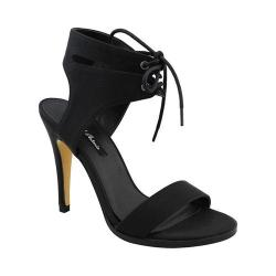 Women's Michael Antonio Lines Heeled Sandal Black
