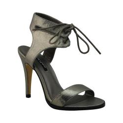 Women's Michael Antonio Lines Heeled Sandal Pewter Metallic