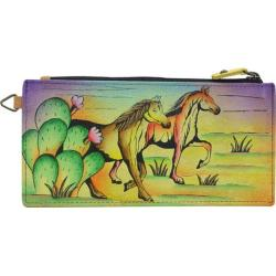 Women's ANNA by Anuschka Leather Credit Card Organizer/Wallet 1713 Arizona Mustang