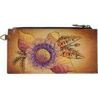 Women's ANNA by Anuschka Leather Credit Card Organizer/Wallet 1713 Rustic Bouquet