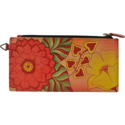 Women's ANNA by Anuschka Leather Credit Card Organizer/Wallet 1713 Summer Bloom