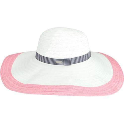 2d99f6d9fc6f7 Shop Women s Betmar Lora Sun Hat White Blush - Free Shipping On Orders Over   45 - Overstock - 16002799