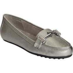 Women's A2 by Aerosoles Test Drive Loafer Dark Silver Metal Faux Leather