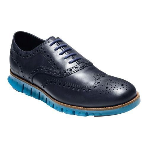 Men's Cole Haan ZEROGRAND Wingtip Oxford Marine Blue/Seaport Leather.  Click to Zoom