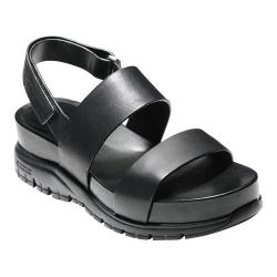 Women's Cole Haan ZeroGrand Slide Sandal Black Oiled Vachetta Leather