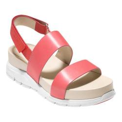 Women's Cole Haan ZeroGrand Slide Sandal Red/Coral/White Oiled Vachetta Leather