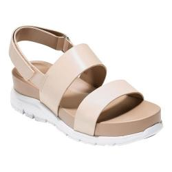 Women's Cole Haan ZeroGrand Slide Sandal Sandshell/White Oiled Vachetta Leather