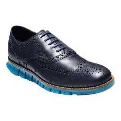 Men's Cole Haan ZEROGRAND Wingtip Oxford Marine Blue/Seaport Leather