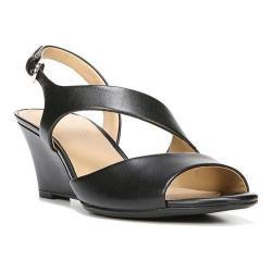 Women's Naturalizer Tonya Wedge Sandal Black Leather